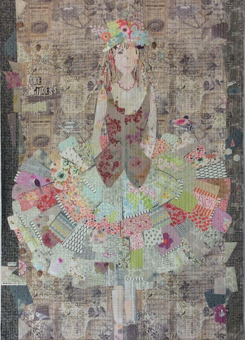 Pattern. The DRESS Collage Quilt by Laura Heine
