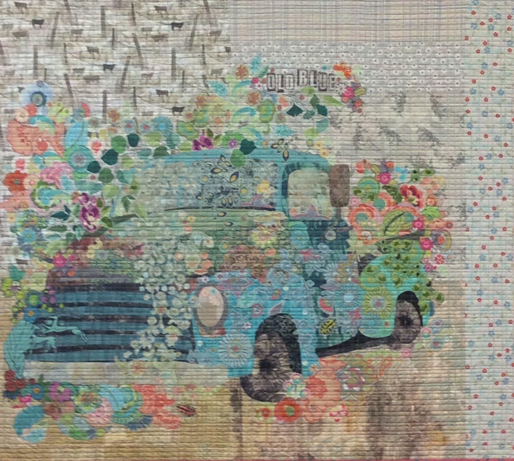 Pattern. Old Blue Collage Quilt by Laura Heine