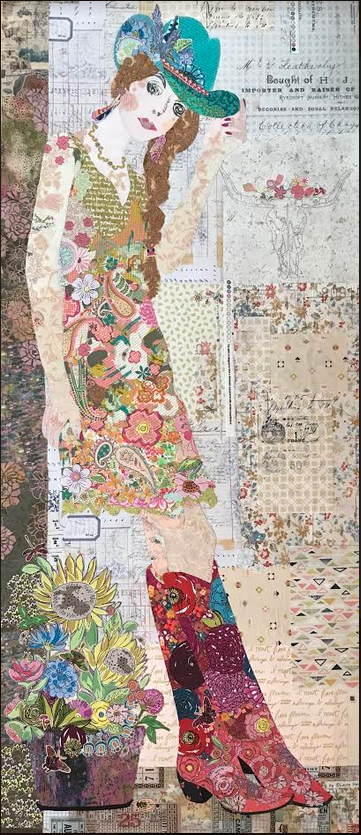 Pattern. Hey Cowboy Collage by Laura Heine