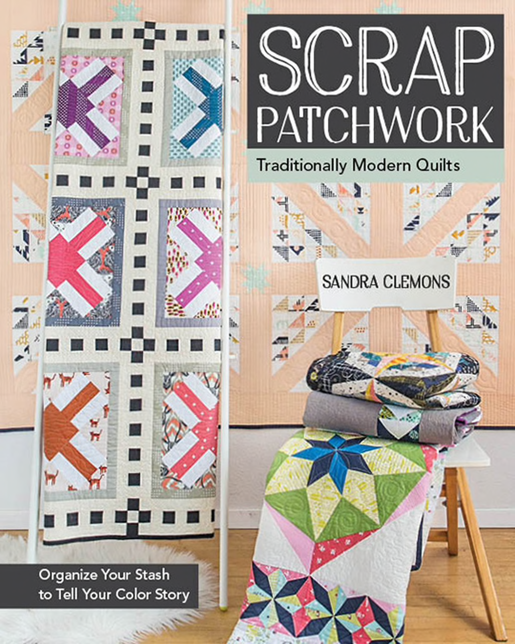 Book. Scrap Patchwork by Sandra Clemons Stash Books