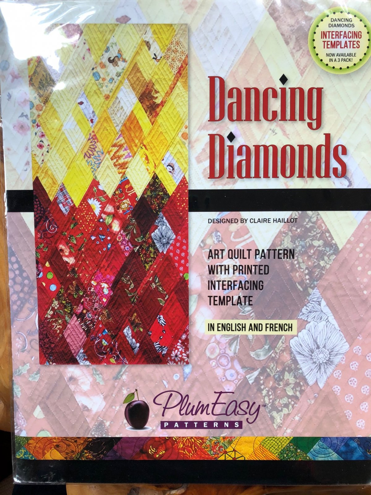 Pattern. Dancing Diamonds by Claire Haillot (Clearance!)