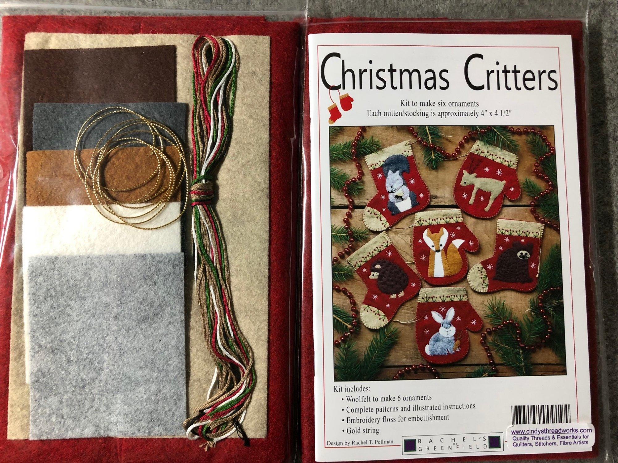 Christmas Critters Woolens Woolfelt Pattern Kit