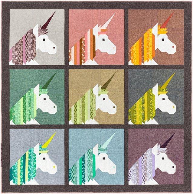 Pattern. Lisa the Unicorn by Elizabeth Hartman