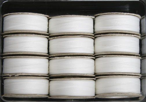 SuperBOBs M Style Bobbins #621 LACE WHITE. 1 dz.