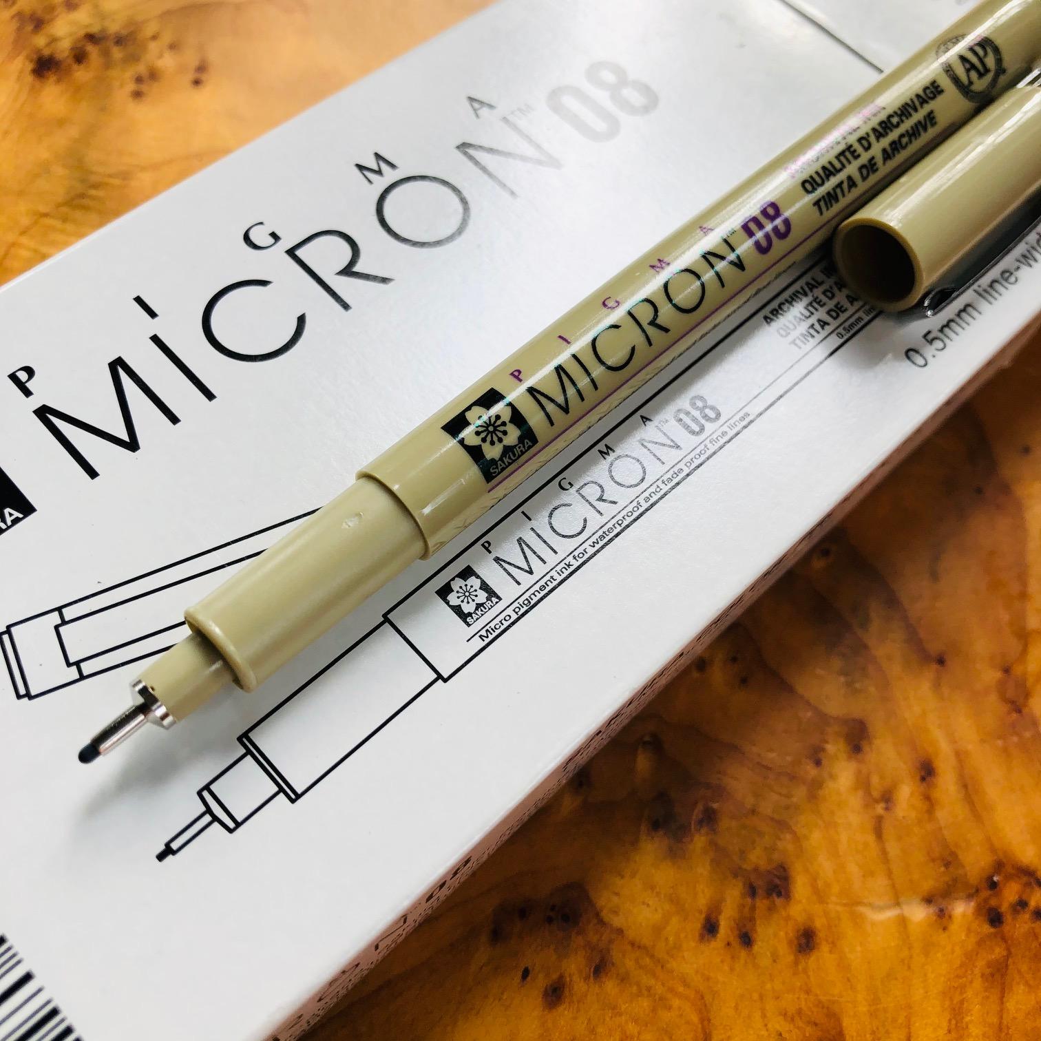Sakura Pigma Micron Permanent Pen BLACK  Marker .5mm Fine
