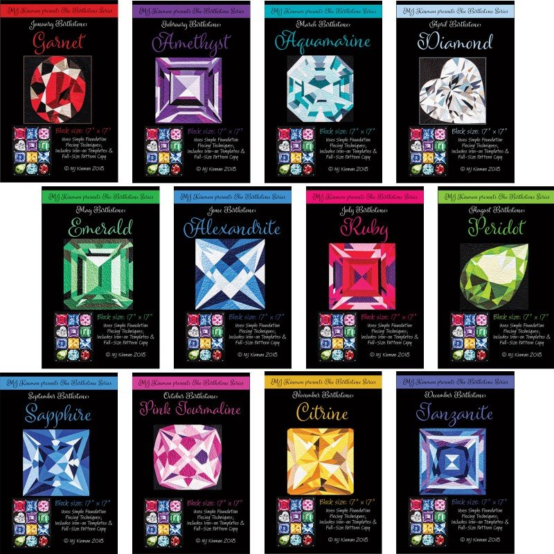MJ Kinman Birthstone Series SET (12 patterns with FQs)
