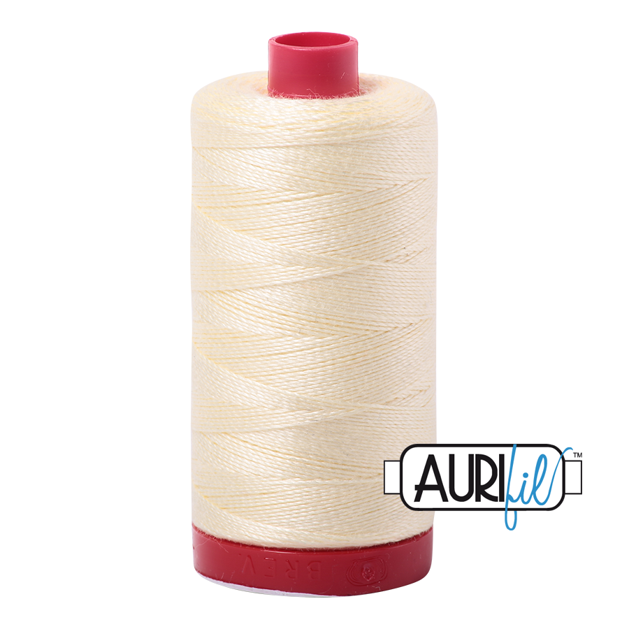 Aurifil 12 wt Cotton Thread (U Order any Colour Button) 356 yd