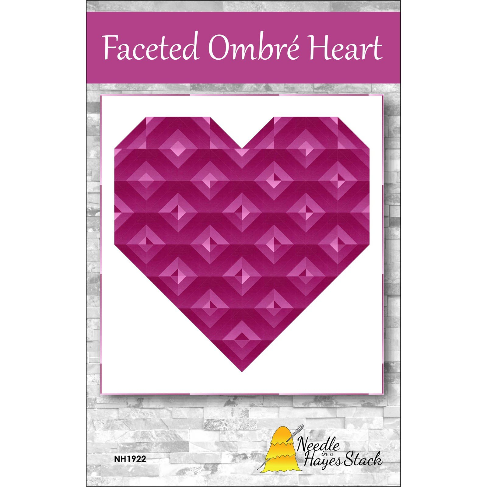 Pattern. Faceted Ombre Hearts by Tiffany Hayes