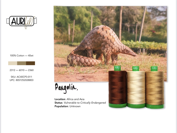 Aurifil Builders 40 wt. Mako BROWNS Pangolin