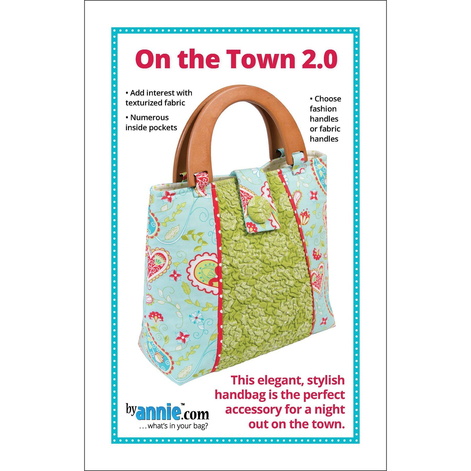 Pattern. On the Town 2 Bag by Annie