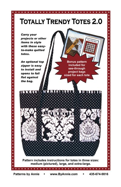 Pattern. Totally Trendy Totes by Annie