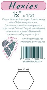 Pre-Cut Iron On 1/2 inch Hexagons by Hugs 'N Kisses (100) U Can Order