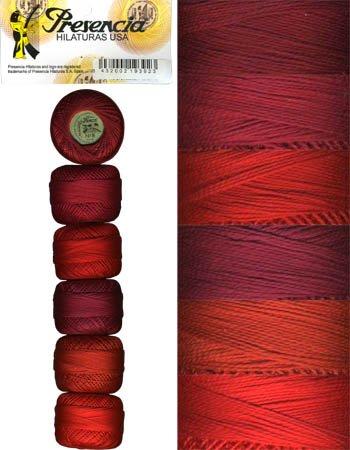 Presencia Perle #8 Cotton SCARLET Sampler