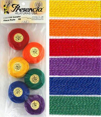 Presencia Perle #8 Cotton CRAYONS Sampler