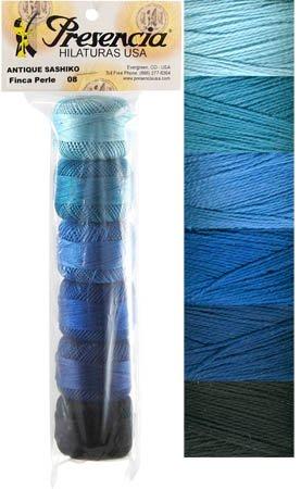 Presencia Perle #8 Cotton ANTIQUE SASHIKO Sampler