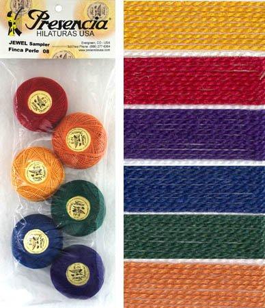 Presencia Perle #8 Cotton JEWEL TONES Sampler