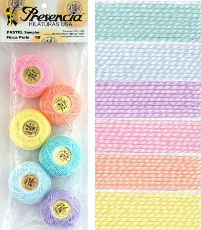 Presencia Perle #8 Cotton PASTELS Sampler