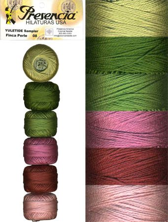 Presencia Perle #8 Cotton YULETIDE Sampler