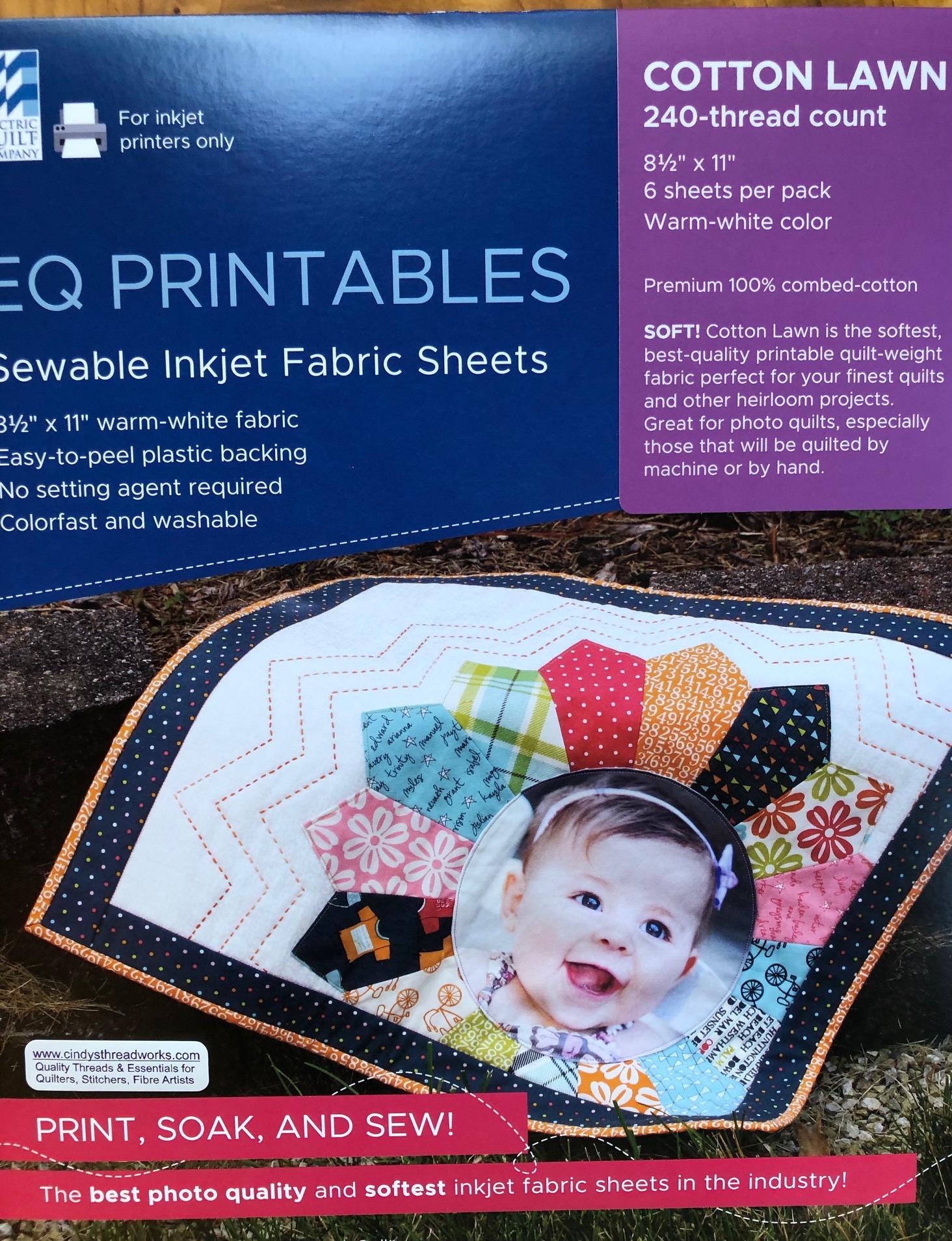 EQ Printable Fabric Sheets for Photos