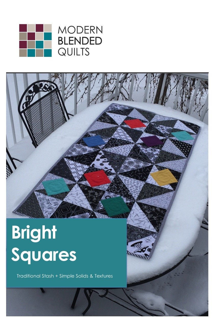 Pattern. Bright Squares by Modern Blended Quilts