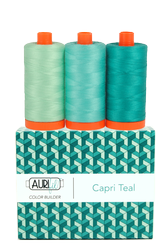 Aurifil 50 wt CAPRI TEAL Cotton Thread  (3)