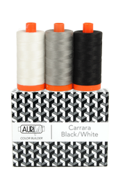 Aurifil  50 wt CARRARA BLK/WT Cotton Thread (3)