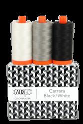 Aurifil  50 wt CARRARA BLK/WT Cotton Thread (3)