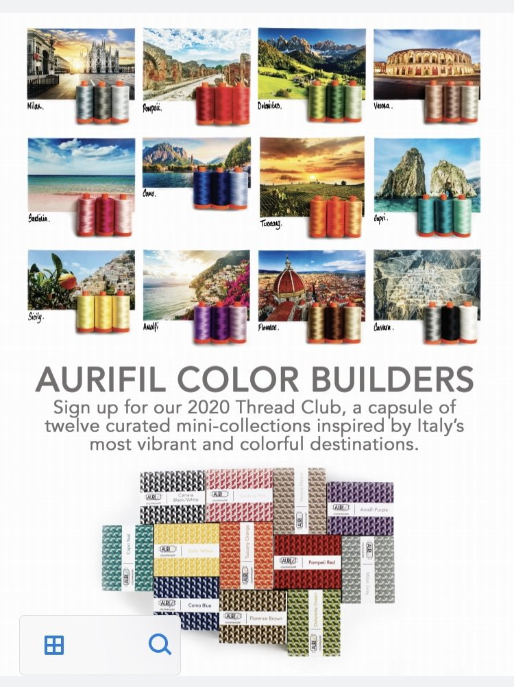 Aurifil Color Builders THREAD CLUB 50 wt Trios