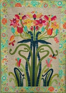 Pattern. Flower Tree Collage Quilt by Laura Heine (1 only)