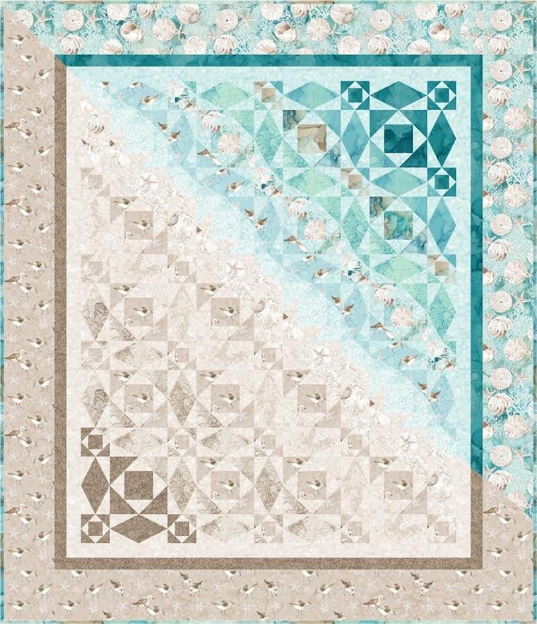 Pattern. High Tide Quilt by Karen Schindler Bialik