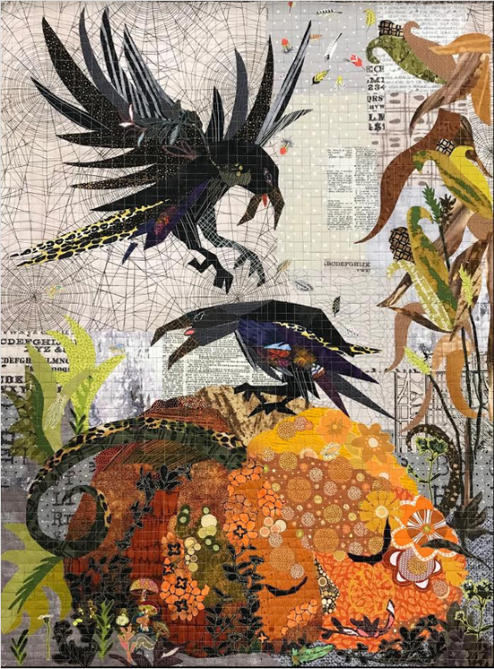 Pattern. Pumpkin Jack Collage by Laura Heine