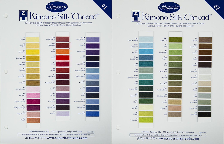 Set of 75 Colors. Kimono Silk Thread. 220 yds.