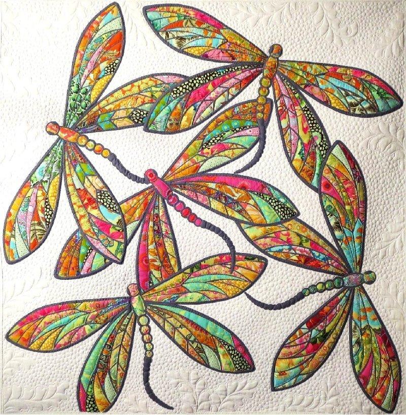 Pattern. Modern Dragonfly. JoAnn Hoffman