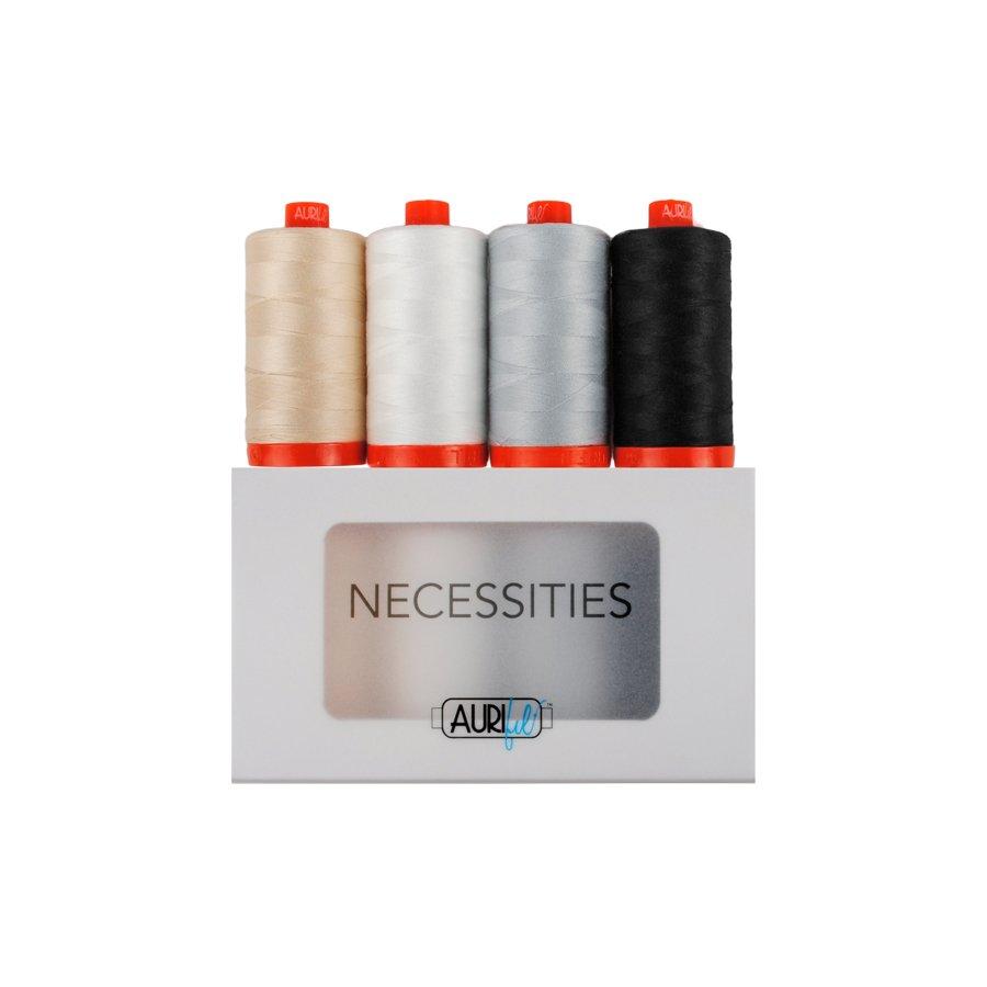 Aurifil NECESSITIES 50 wt Cotton Thread (Neutral Set 4)