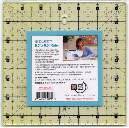 Quilters Select Non-Slip Ruler 6.5 x 6.5