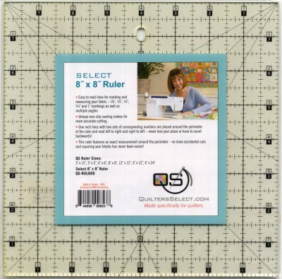 Quilters Select Non-Slip Ruler 8 x 8