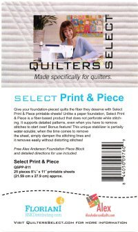 Quilters Select Foundation Paper Piecing