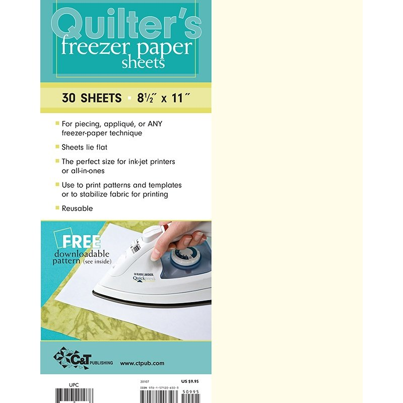 Quilters Freezer Paper 30 Sheets Stabilizer