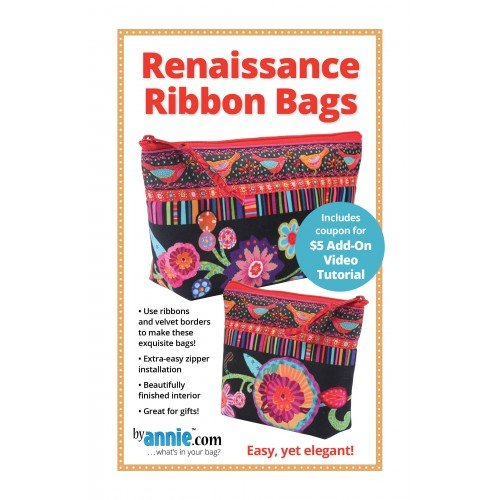 Pattern. Renaissance Ribbon Bag by Annie (clearance!)