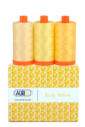 Aurifil 50 wt SICILY YELLOW Cotton Thread (3)