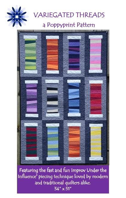 Pattern. Variegated Threads Krista Hennebury Poppy Print