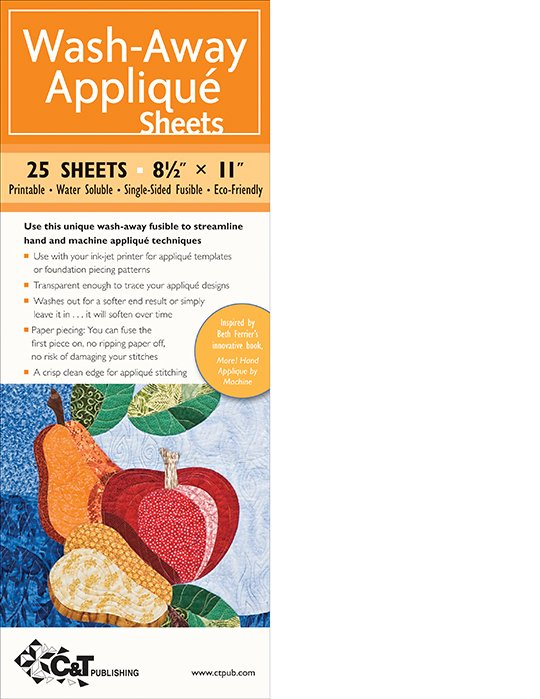 Wash Away Printable Applique Stabilizer Sheets by CT Publ