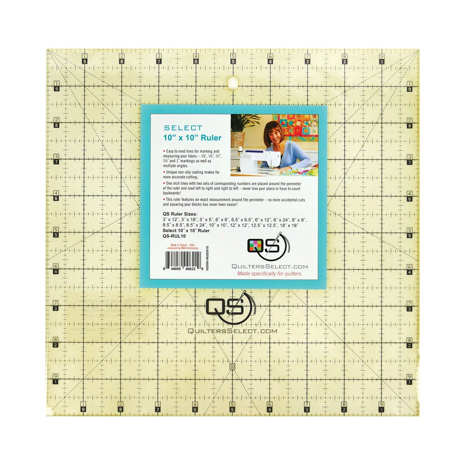 Quilters Select Non-Slip Ruler 10 x 10