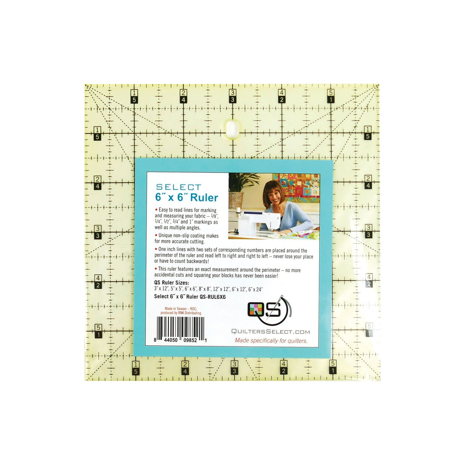 Quilters Select Non-Slip Ruler 6 x 6
