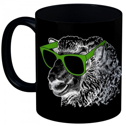 Cool Sheep Mug BLACK