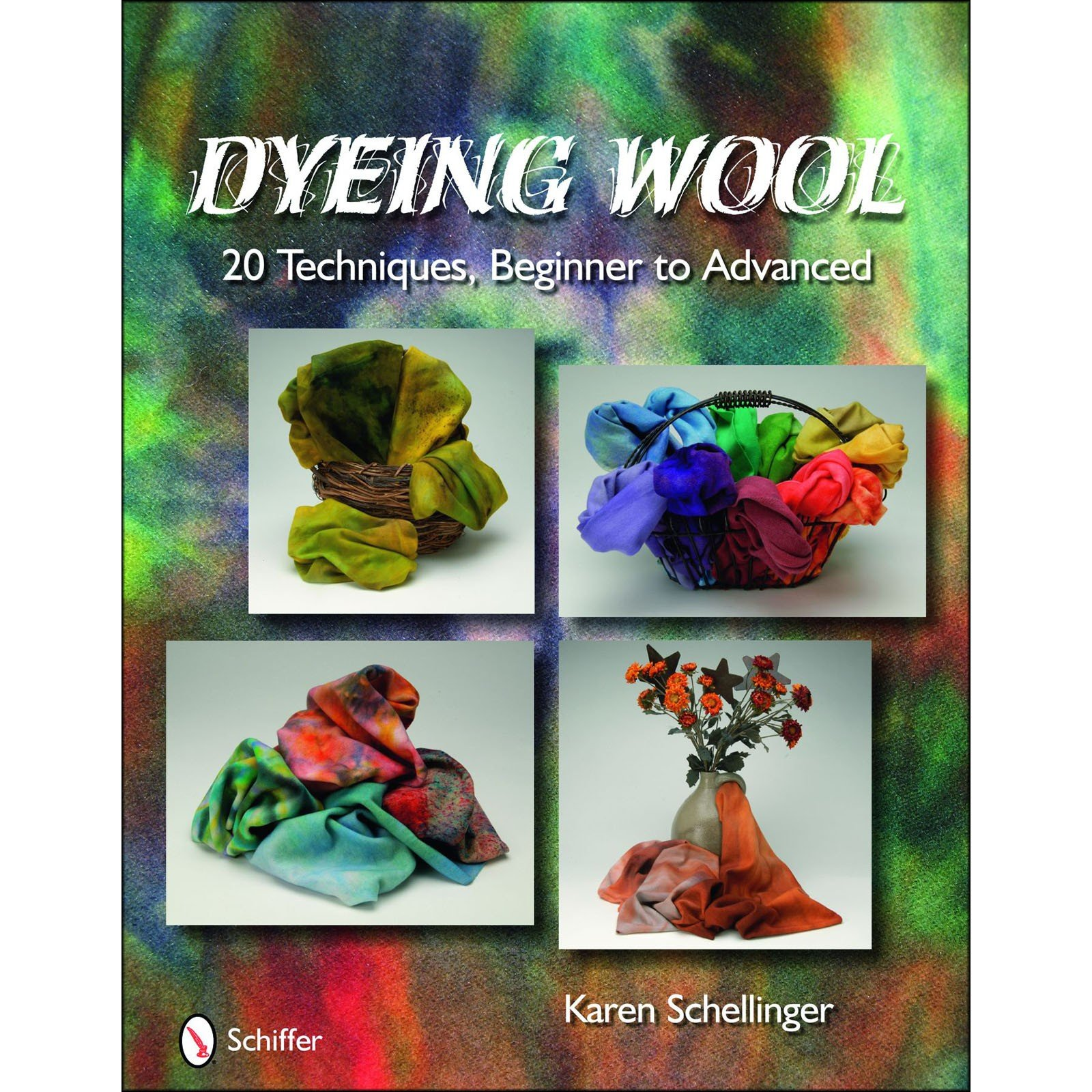 Book. Dying Wool 20 Techniques Karen Schellinger (Clearance!)