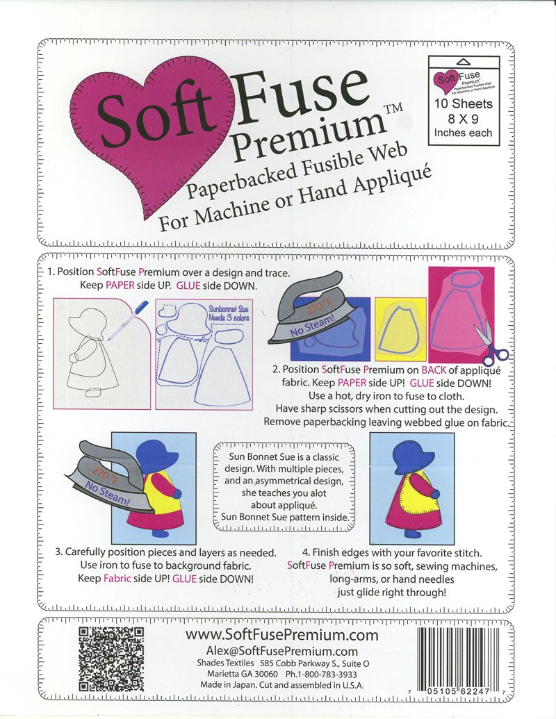 Soft Fuse Paperbacked Fusible Web Stabilizer