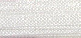 #001 WHITE 100% Silk Ribbon 13mm x 5.5 yds.