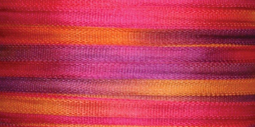 #121 HOT FLASH100% Japanese Silk Ribbon 2mm x 5 yds.