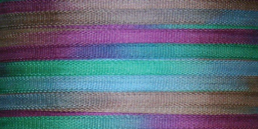 #122 WILD ORCHIDS 100% Japanese Silk Ribbon 7mm x 3 yds.